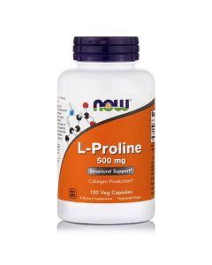 Now L-Proline 500 mg 120 Vcaps