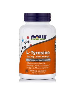 Now L-Tyrosine 750 mg free form  90 caps