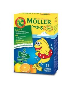 Moller's Omega-3 Kids 36 gummies orange - lemon