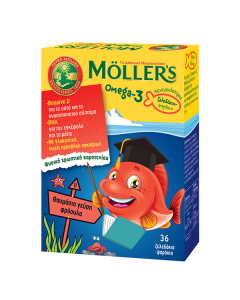 Moller's Omega-3 Kids 36 gummies strawberry