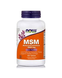 Now MSM 1500 mg Vegeterian 100 tabs
