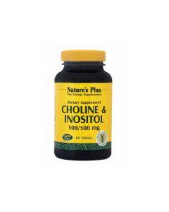 Nature's Plus Choline & Inositol 500/500 mg  60 tabs