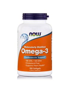 Now Omega-3 1000 mg  Molecularly Distiled 100 softgels