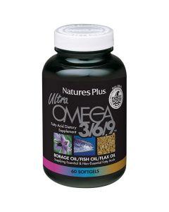 Nature's Plus Ultra Omega 3/6/9 Borage oil/Fish oil/Flax oil 60 softgels