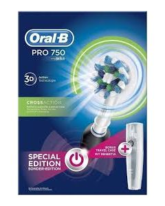 Oral-B Pro 750 3D Cross Action Black