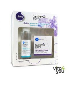 Panthenol Extra Face & Eye Antiwrinkle 24h Cream 50 ml & Micellar Cleanser 100 ml