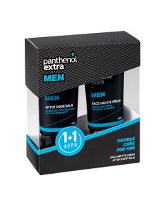 Panthenol Extra Men Double Care for Him Face-Eye Cream 75 ml & After Shave Balm 75 ml