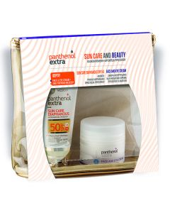 Panthenol Extra Sun Care Diaphanous Face Gel SPF50 50 ml & Face Eye Cream 24H 50 ml
