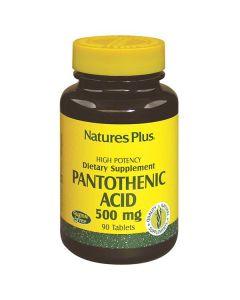 Nature's Plus Pantothenic Acid 500 mg  90 tabs