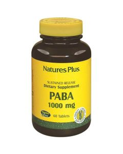 Nature's Plus PABA 1000 mg Sustained Release 60 tabs