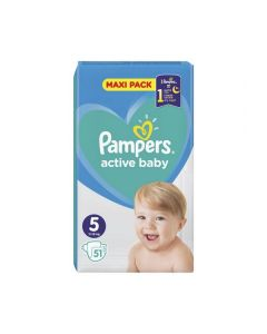 Pampers Active Baby Maxi No5 (11-16 Kg) 51 nappies