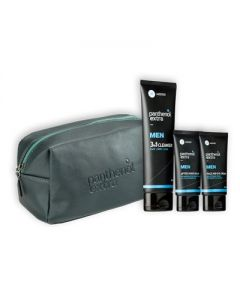 Panthenol Extra Gift for Him Men 3 in 1 Cleanser 200 ml & After Shave 75 ml & Face-Eye Cream 75 ml necessaire grey