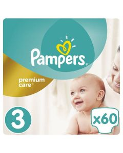 Pampers Premium Care Midi no3 (5-9 kg) 60 nappies