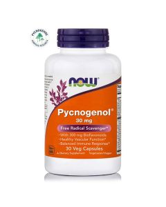 Now Pycnogenol 30 mg with 300 mg Bioflavonoids 30 caps