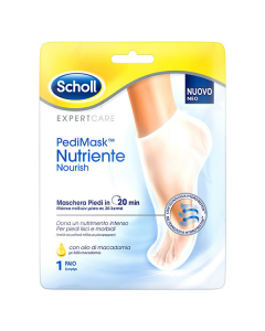 Dr Scholl Pedi Mask Nutriente Nourish Foot Mask with Macadamia Oil