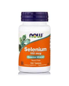 Now Selenium 100 mcg Yeast Free Selenomethionine Vegetarian 100 tabs