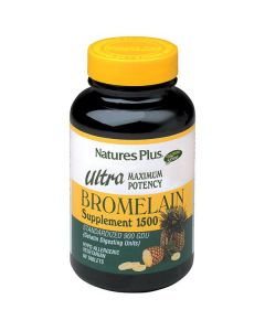 Nature's Plus Ultra Bromelain 1500 mg Standardized 900 GDU 60 tabs