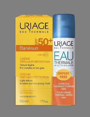 Uriage Bariesun SPF50+ Cream light texture 50 ml & Eau Thermale Water 50 ml