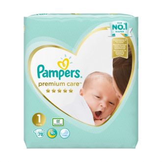 Pampers Premium Care Newborn no1 (2-5 kg) 78 nappies