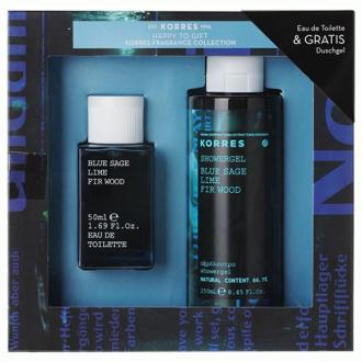 Korres Fragrance Collection Blue Sage Lime Fir Wood Άρωμα Ανδρικό 50 ml & Αφρόλουτρο 250 ml
