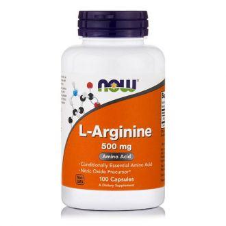 Now L-Arginine 500 mg 100 caps