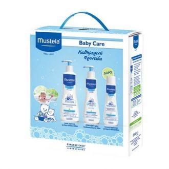 Mustela Normal Skin Gentle Cleansing Gel 500 ml & Hydra Bebe Body Lotion 300 ml & Δώρο Bubble Bath 200 ml