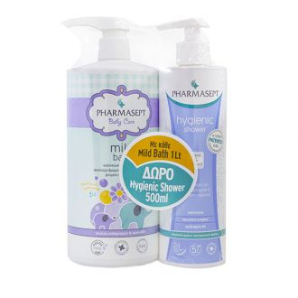 Pharmasept Baby Care Mild Bath 1 lt & Hygienic Shower 500 ml