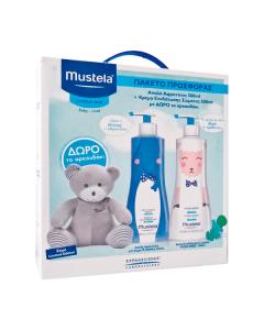Mustela Normal Skin Gentle Cleansing Gel 500 ml & Hydra Bebe Body Lotion 500 ml & Δώρο αρκουδάκι