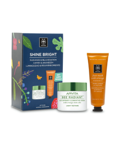 Apivita Shine Bright Bee Radiant Light Texture Cream 50 ml & Face mask Orange 50 ml