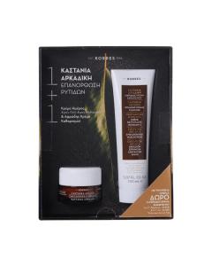 Korres Castanea Arcadia Day cream dry-very dry skin 40 ml & Foaming cream cleanser 150 ml