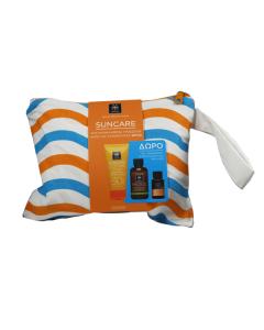Apivita Suncare Oil Balance SPF30 50 ml & Purifying gel 75 ml & Suncare Hair oil 20 ml