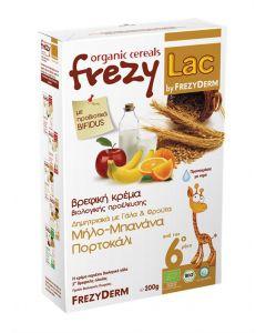 Frezylac Organic Cereals Δημητριακά με Γάλα & Φρούτα Μήλο Μπανάνα Πορτοκάλι 200 gr