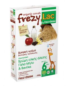 Frezylac Organic Cereals Βρώµη Ολικής Άλεσης Γάλα-Μήλο & Βανίλια 200 gr