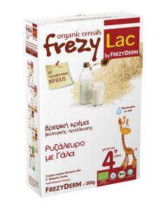 Frezylac Organic Cereals Ρυζάλευρο µε Γάλα 200 gr