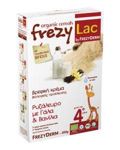Frezylac Organic Cereals Ρυζάλευρο µε Γάλα & Βανίλια 200 gr