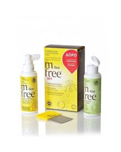 M Free Lice Set Spray Solution 100 ml & Specialized Shampoo 100 ml & Χτένα