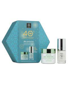 Apivita 40s Birthday Bee Radiant Κρέμα ελαφριάς υφής 50 ml & 5-Action Eye Serum 15 ml