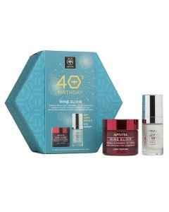 Apivita 40s Birthday Wine Elixir Κρέμα Ελαφριάς υφής 50 ml & 5-Action Eye Serum 15 ml