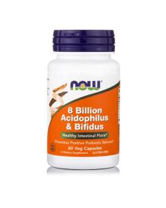 Now Acidophilus & Bifidus 8 Billion 60 veg caps