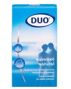 DUO Natural Προφυλακτικό - Κανονικό 6τεμ