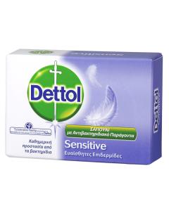 Dettol Αντιβακτηριδιακές Μπάρες Σαπουνιού Sensitive 100gr
