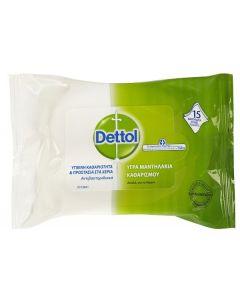 Dettol Αντιβακτηριδιακά Υγρά Μαντηλάκια 15 wipes