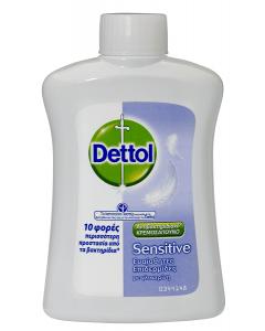 Dettol Ανταλλακτικό Υγρό Κρεμοσάπουνο Sensitive 250ml