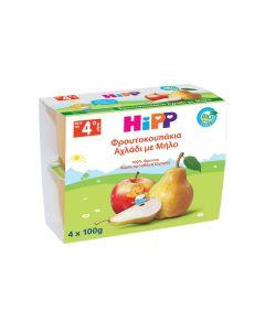 Hipp Φρουτόκρεμα Μήλο & Αχλάδι 4 x 100 gr