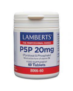 Lamberts P5P 20 mg Pyridoxal-5-Phosphate 60 tabs