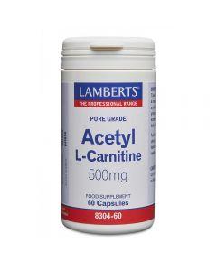 Lamberts Acetyl-L-Carnitine 500 mg 60 caps