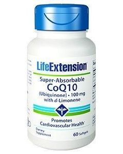 Life Extension Super Absorbable CoQ10 100 mg with D-Limonene 60 softgels