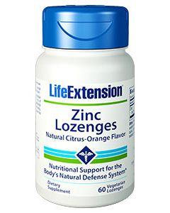 Life Extension Zinc 60 Lozenges citrus-orange flavour