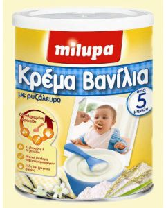 Milupa Κρέμα Βανίλια από τον 5ο μήνα 300γρ