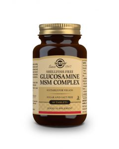 Solgar Glucosamine MSM Complex (shellfish free)  60 tabs